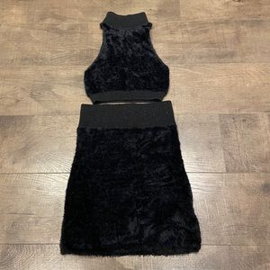 Urban outfitters fuzzy 2 piece